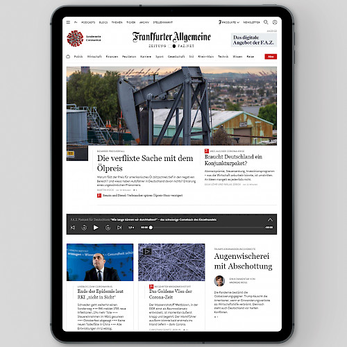 FAZ.NET - Migration and further development of the news portal