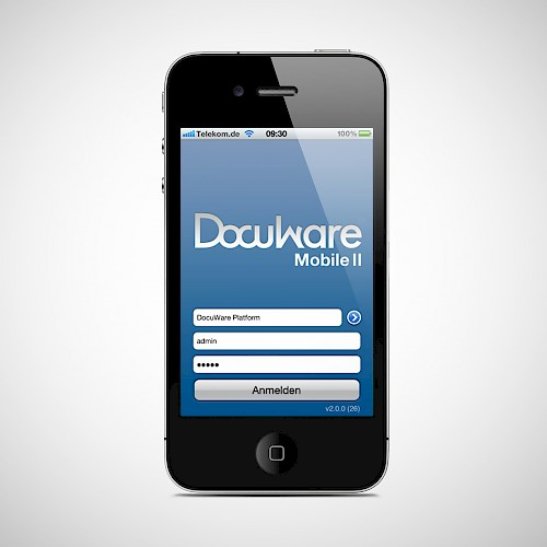 Screenshot der DocuWare-App
