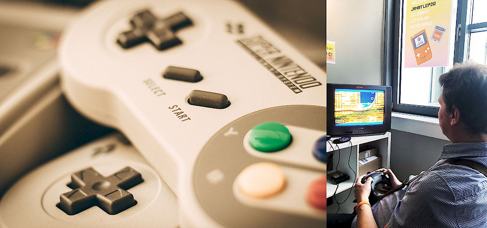 Leipzig office opening, gaming station, Nintendo