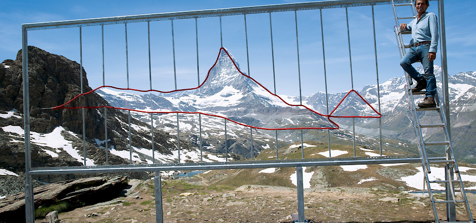 Kunstprojekt Earth Plastic View am Matterhorn, Zermatt
